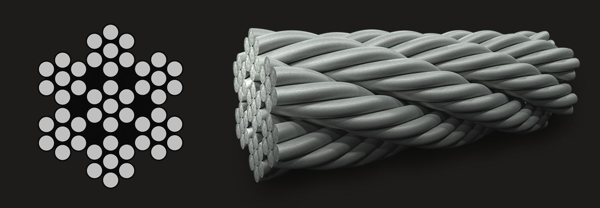 7x7 (6/1) - Marine Grade Stainless Steel Wire Rope