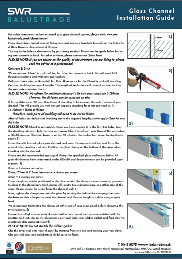 Glass Channel Fitting Instructions