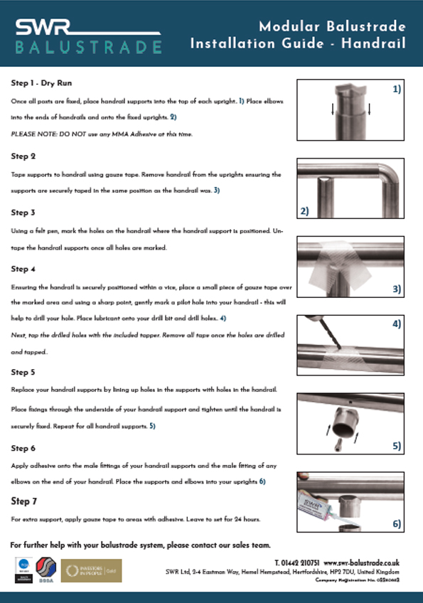 Handrail Fitting Instructions