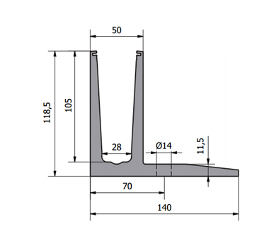 0.74kN Base Fixed Channel Diagram