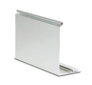 3kN Extended Side Fixed Aluminium Channel Cover Piece