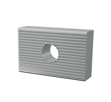 3kN Extended Side Fixed Aluminium Channel Mounting Block