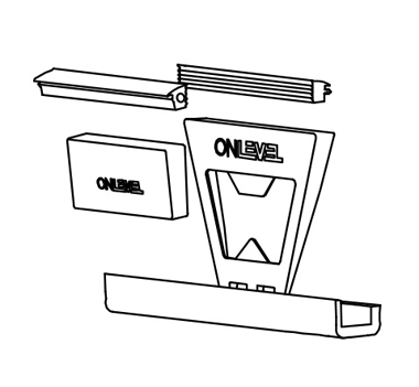 OnLevel Glass Channel Flex Fit Diagram
