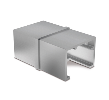 Stainless Steel 40x30 U-Profile Slotted Handrail Straight Connector