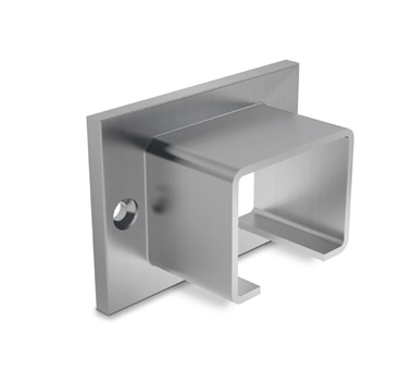 Stainless Steel 40x30 U-Profile Slotted Handrail Wall Connector