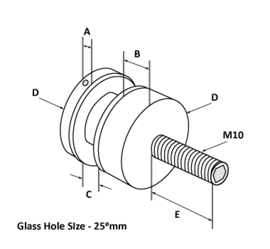 Satin Finish Glass Adapters Diagram