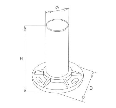 Satin Heavy Duty Base Plate Diagram