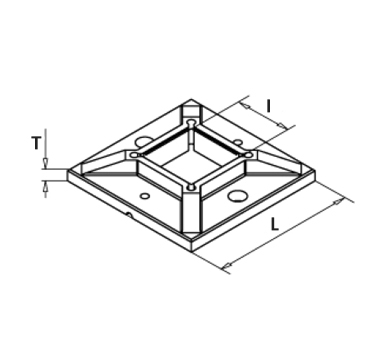 Square Base Plate Satin Diagram