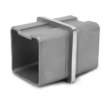Square Straight Connector Satin