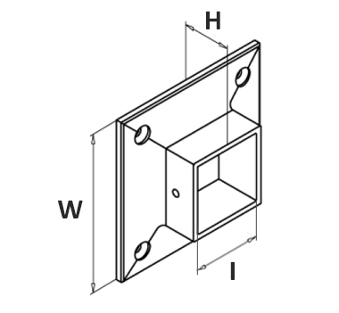 Square Wall Plate Satin Diagram